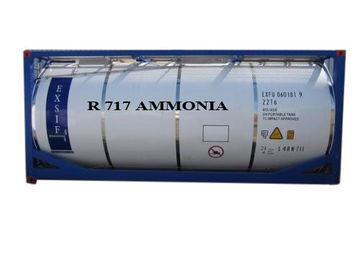 Refrigeran Amonia Industri, R717 Ammonia Gas Safety ISO Tanks Packaged